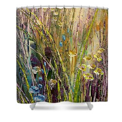 Shower Curtain featuring the painting Trail Of Beauty by Tatiana Iliina
