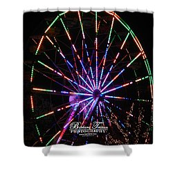 Trail Of Lights #7427 Shower Curtain by Barbara Tristan