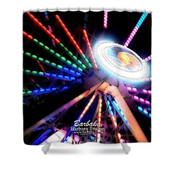 Trail Of Lights Abstract #7486 Shower Curtain by Barbara Tristan