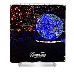 Trail Of Lights World #7359 Shower Curtain by Barbara Tristan