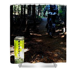 Trail Respect Shower Curtain