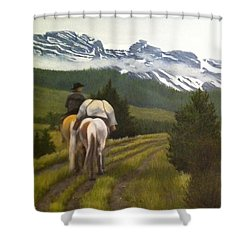 Trail Ride Shower Curtain