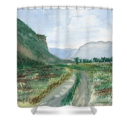 Trail To Canada Shower Curtain