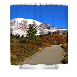 Shower Curtain featuring the photograph Trail To Myrtle Falls by Lynn Hopwood