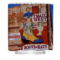 Trail West Mural Shower Curtain by Susanne Van Hulst