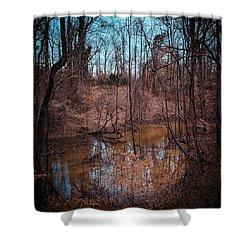Trailing Creek Shower Curtain