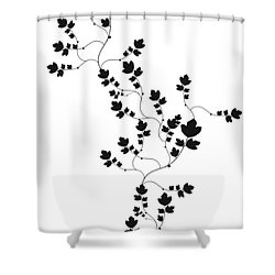 Trailing Leaves Shower Curtain