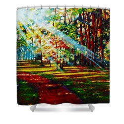 Trails Of Light Shower Curtain