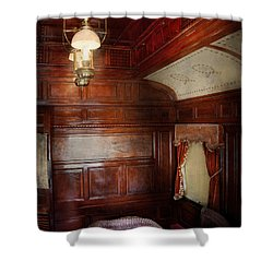 Train - Car - The Lovers Car Shower Curtain by Mike Savad