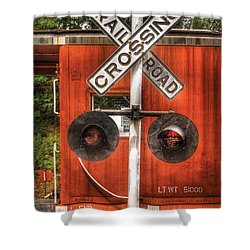 Train - Yard - Railroad Crossing Shower Curtain by Mike Savad