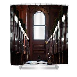 Train Car Interior Shower Curtain by Joseph Skompski