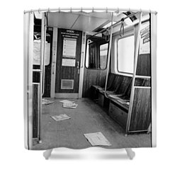 Train Car  Shower Curtain