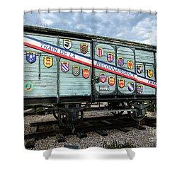 Train De La Reconnaissance Francaise - Ogden - Utah Shower Curtain by Gary Whitton