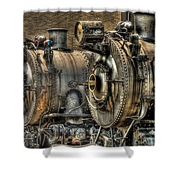 Train - Engine - Brothers Forever Shower Curtain by Mike Savad