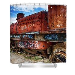 Train Graveyard Uyuni Bolivia 18 Shower Curtain