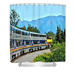 Train In Alaska Shower Curtain