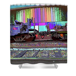 Train Parked Shower Curtain