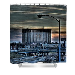 Train Station Detroit Mi Shower Curtain by Nicholas  Grunas
