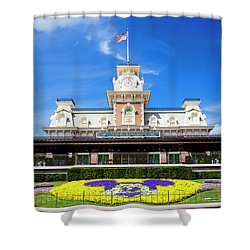 Shower Curtain featuring the photograph Train Station by Greg Fortier