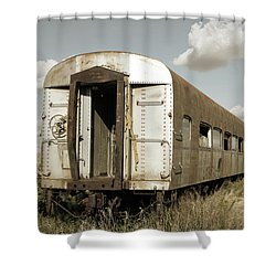 Train To Nowhere Shower Curtain
