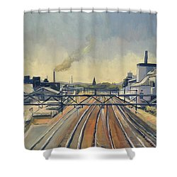 Train Tracks Maastricht Shower Curtain