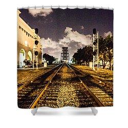 Train Tracks Shower Curtain