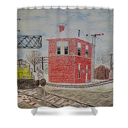 Trains In Motion Shower Curtain