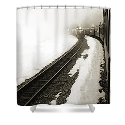 Trains Passing Shower Curtain