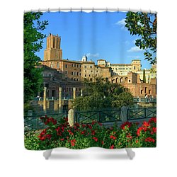 Trajan's Forum, Traiani, Roma, Italy Shower Curtain