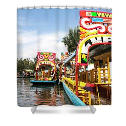 Trajineras Shower Curtain