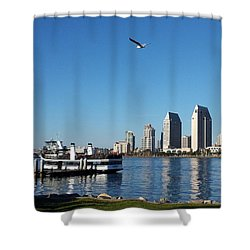 Tranquility By The Bay Shower Curtain