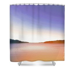 Tranquil Afternoon At The Lake Shower Curtain