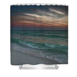 Tranquil Evening Shower Curtain by Renee Hardison