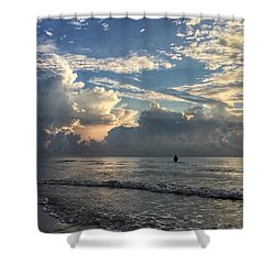 Tranquil Fisherman Shower Curtain
