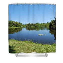 Shower Curtain featuring the photograph Tranquil Lake by Gary Wonning