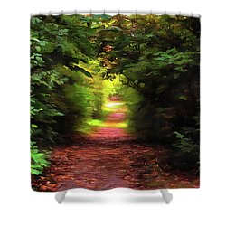 Tranquil Pond Shower Curtain by Cedric Hampton