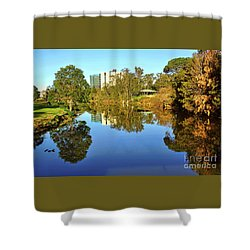 Shower Curtain featuring the photograph Tranquil River By Kaye Menner by Kaye Menner