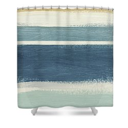 Tranquil Stripes- Art By Linda Woods Shower Curtain