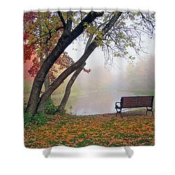 Shower Curtain featuring the photograph Tranquil View by Betsy Zimmerli