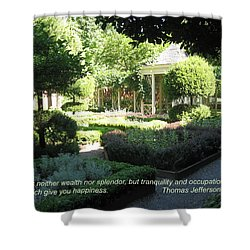 Tranquility And Occupation Shower Curtain