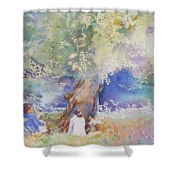 Tranquility At The Brandywine River Shower Curtain
