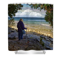 Tranquility Shower Curtain by Judy Johnson