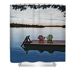 Tranquility Shower Curtain by Kenneth M  Kirsch