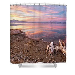 Shower Curtain featuring the photograph Tranquility by Tassanee Angiolillo