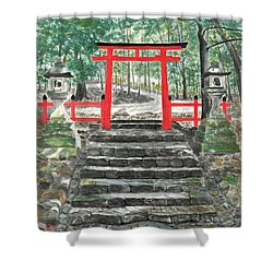 Tranquility Torii Shower Curtain