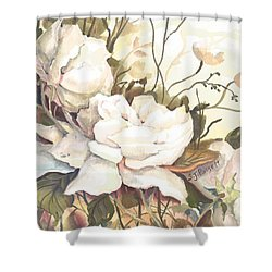 Tranquility Study In White Shower Curtain