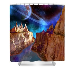 Transcendent Shower Curtain by Corey Ford