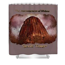 Transcendent Devils Tower 2 Shower Curtain