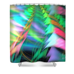 Transcending Shower Curtain by Kim Sy Ok