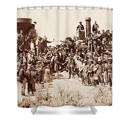 Transcontinental Railroad - Golden Spike Ceremony Shower Curtain